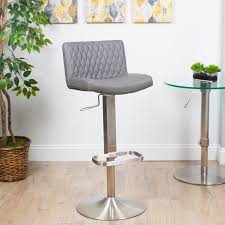 Patterned Bar Stools Extraordinary Shop MIX Diamondpatterned LeatheretteBrushed Stainless Steel