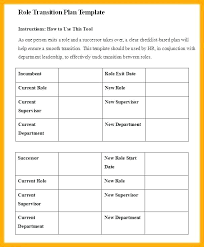 Transition Plan Template Word 6 Transition Plan Template Free Download Knowledge Excel