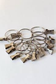 vintage curtain rings curtain clips rustic vintage decor loft decor man cave curtain rod rings