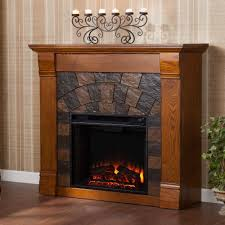 southern enterprises caden 45 5 in freestanding electric fireplace in m antique oak