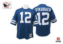 Cowboys And Home Navy Jersey Throwback Men's Authentic 12 Ness Mitchell Nfl Blue New Staubach Dallas Roger