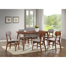 walnut and beige 7 piece dining set sacramento rc willey furniture