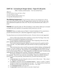 3 5 Essay Format Hunger Games Paper 3 1