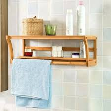 bathroom storage for towels bamboo wooden wall mounted bathroom towel rail holder shelf unit storage rack