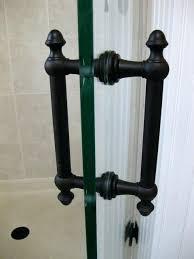 oil rubbed bronze shower doors oil rubbed bronze glass shower door handles