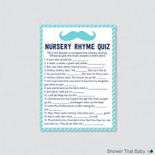 Printable Name That Nursery Rhyme  Baby Shower  Pinterest  Baby Baby Shower Games Nursery Rhymes