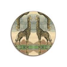 kaleidoscope giraffe giraffe table mat giraffe placemat giraffe coaster patch nyc