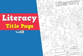 Cool Title Pages Title Page Literacy Ver 2 Teacher Resources And