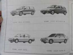 old car honda civic 3 door 4 door hatchback sedan parts catalog parts list 7