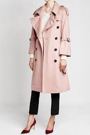 burberry sandringham fit cashmere trench coat pale orchid
