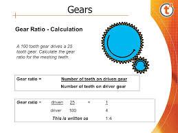 8 gears gear ratio calculation