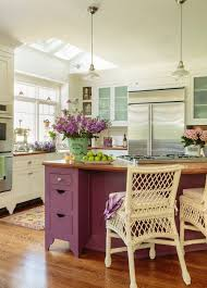 charming ideas cottage style kitchen design. Would You Paint Your Kitchen Island A Pretty Purple? Charming Ideas Cottage Style Design C