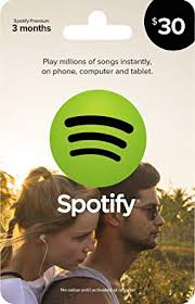 spotify gift card 30