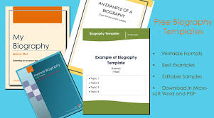 38 Biography Templates With Images Download In Word Pdf