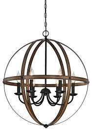 industrial style 5 lighting modern sphere orb chandelier bronze