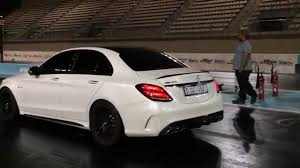 mercedes benz amg c63 2015. mercedes benz c63 amg s 2015 gad motors stage 1 600hp yas marina drag youtube amg