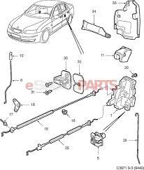 esaabparts saab 9 3 9440 car body external parts door locks door lock rear door