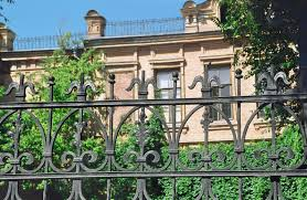 iron fence ideas. Contemporary Ideas Classic Wrought Iron Fence In Front Of A Hedge Garden Intended Iron Fence Ideas Home Stratosphere