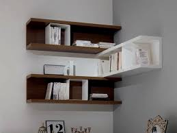 remarkable ideas wall mounted corner shelves corating ideas brown white stained wooden bookshelf modern decorative wall shelf wall decor modern wall shelves