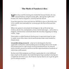 pandora box  andintroduction 2 1w the myth of pandora s box