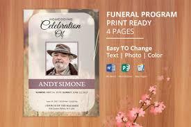 Printable Funeral Program Template Memorial Service Program