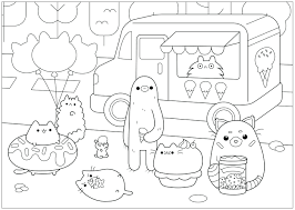 Find out more coloring sheets here. Pusheen Coloring Pages Print Them Online For Free