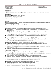 Examples Resumes Sample Nursing Resume Top 10 Child Psychologist