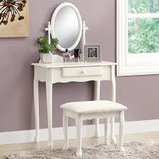 monarch specialties antique white makeup vanity vanity table mirror