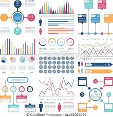 Investment Charts And Graphs Infographics Template Financial Charts Trends Graph Population Infocharts Statistical Bar Diagram Presentation Vector Infographic