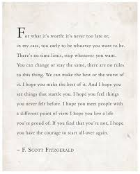 Quotes About Life F Scott Fitzgerald Quote For What It's Worth By Adorable Fitzgerald Quotes