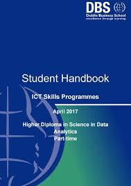 P T Ict Data Analytics Handbook April 2017 By Dublin