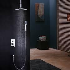 Duschsystem Unterputz Wandmontage Mit Decken Regenbrause In Chrom