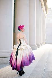 ombre wedding dress steampunk fairytale gown gradient moon