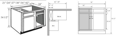 kitchen corner base cabinet with blind