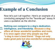 The Best Conclusion Example