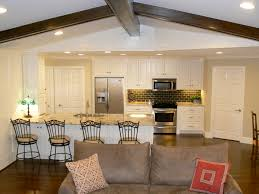 Open Living Room And Kitchen Designs Open Kitchen Design Christmas Bar Stool Decor Idea As Wells As