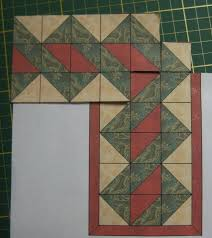 925 best Quilt ideas images on Pinterest | Quilting projects ... & An interesting border design and quite simple to execute. Uses HST or it  could be re-drafted to elongate the