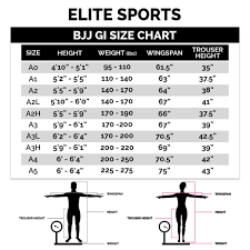 Ronin Gi Size Chart The Definitive Guide To The Bjj Gi Size Chart Attack The Back