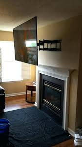 tv over wood burning fireplace mounting service home theater installation fort mill custom mounts tv over wood burning fireplace
