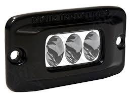 led flush mount lights driving over or under voltage protection cast aluminum housing durable polycarbonate lens