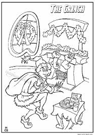 Small Picture Grinch brings Christmas gifts coloring page
