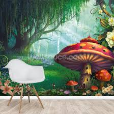 enchanted forest wallpaper mural by