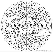 Geometry Coloring Pages Geometric Coloring Sheets Printable Free