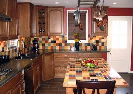 ... Large Size Of Kitchen Amazing Backsplash Ideas For Small Kitchens With  Wooden Chair Primitive ...