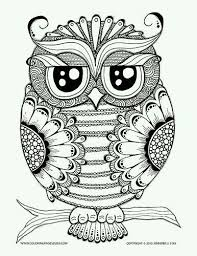 Pin By Kathrynn Gatton On Patterns Coloring Pages Owl Coloring