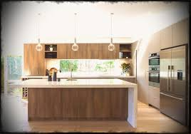large modern kitchen in warm tones with a huge island bench l shaped designs ideas