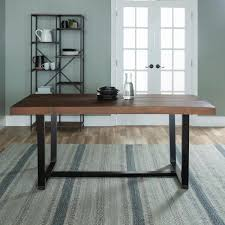 mahogany rustic urban industrial farmhouse distressed solid wood dining table