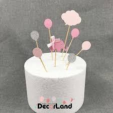 Happy Birthday Little Elephant Baby Girl Cake Topper Baby Shower One
