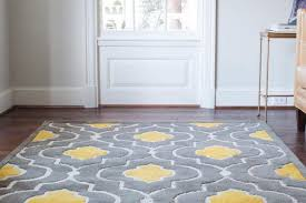 gorgeous floor rug yellow gray rug wayfair matches a small rug i in