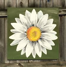best 25 daisy painting ideas on flower painting daisy paintings